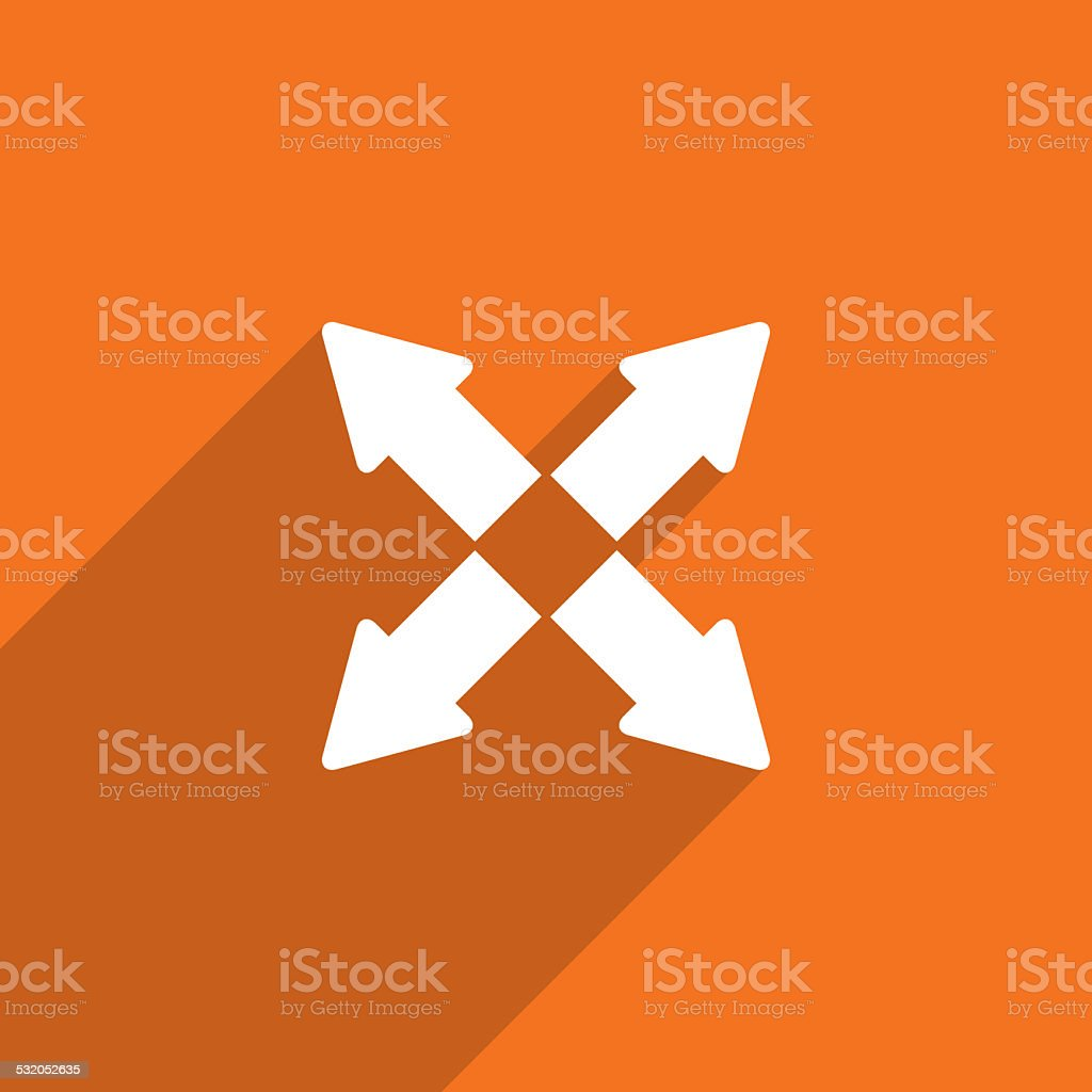 arrow flat icon illustration. stock photo