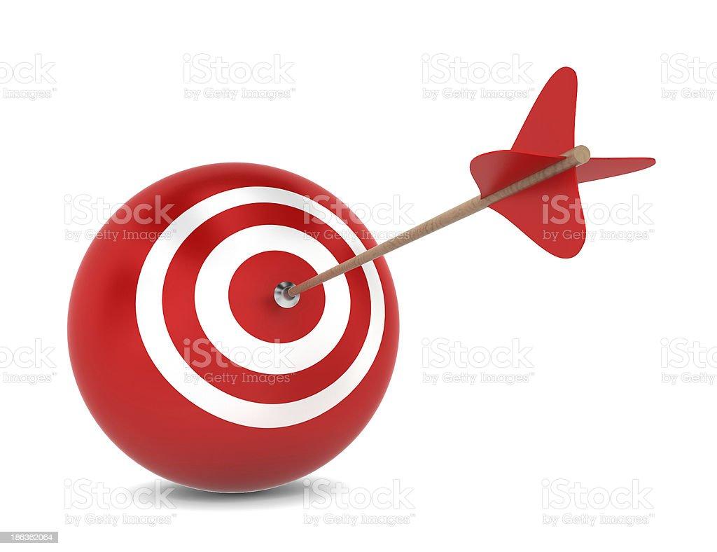 Arrow hits spherical aim royalty-free stock photo