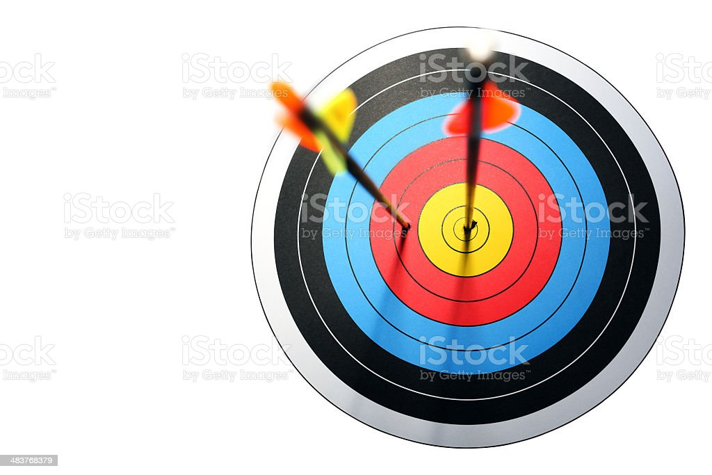 arrow hits target, one missed royalty-free stock photo