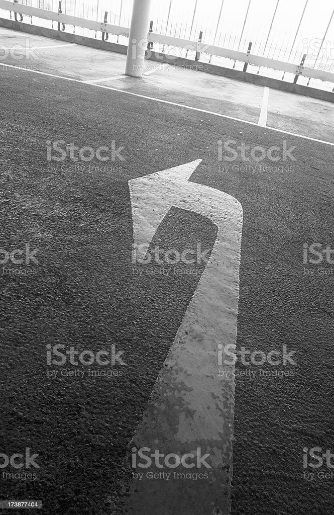 Arrow in car park royalty-free stock photo