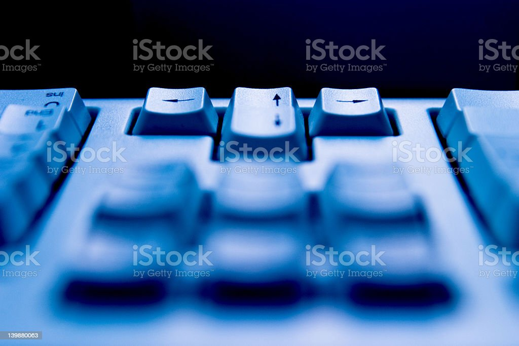arrow keys on keyboard royalty-free stock photo