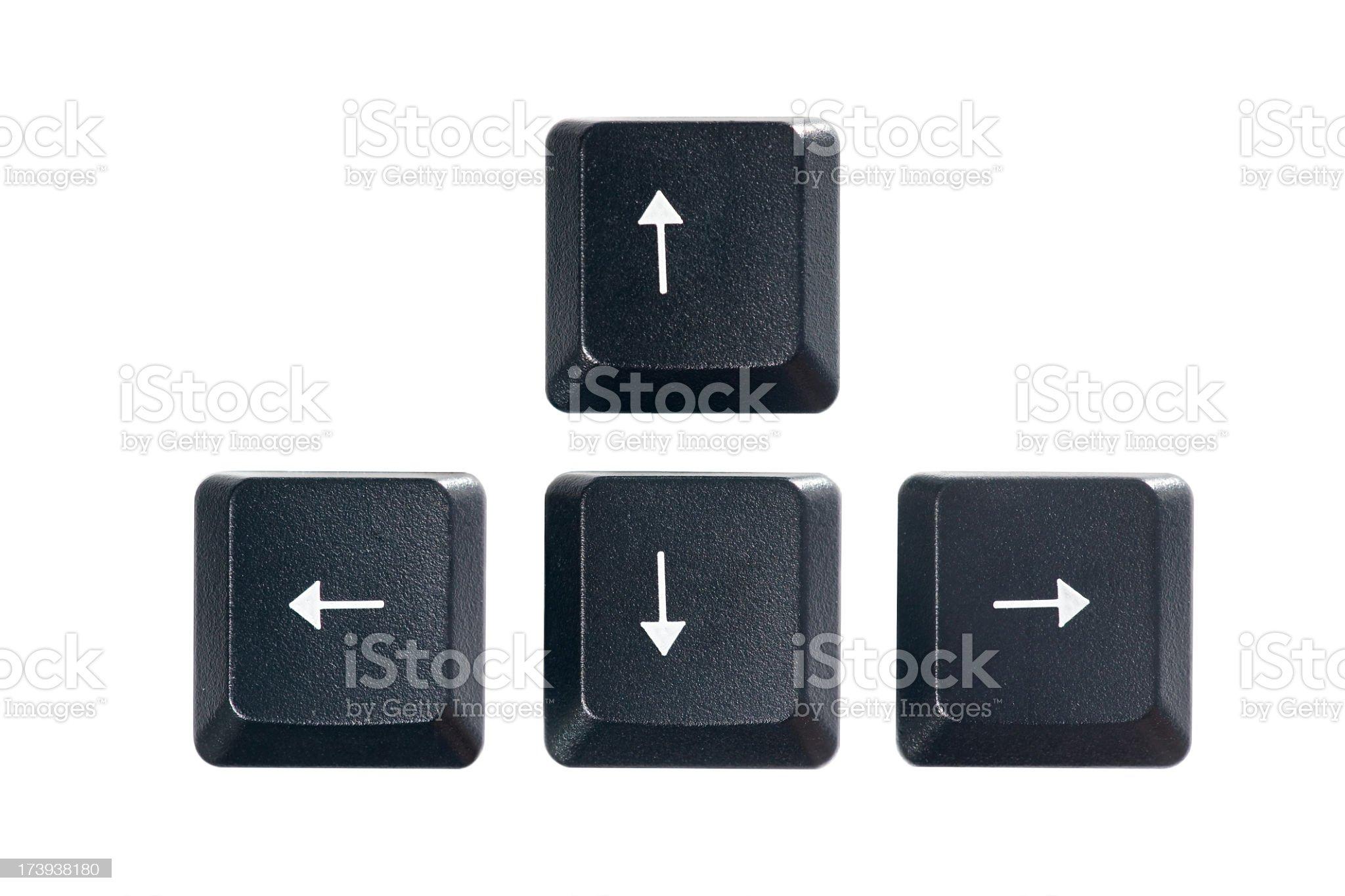 Arrow keys royalty-free stock photo