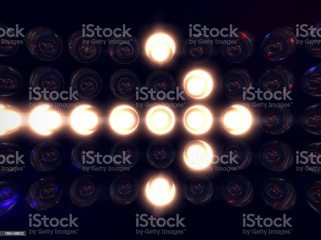 Arrow Light Display royalty-free stock photo