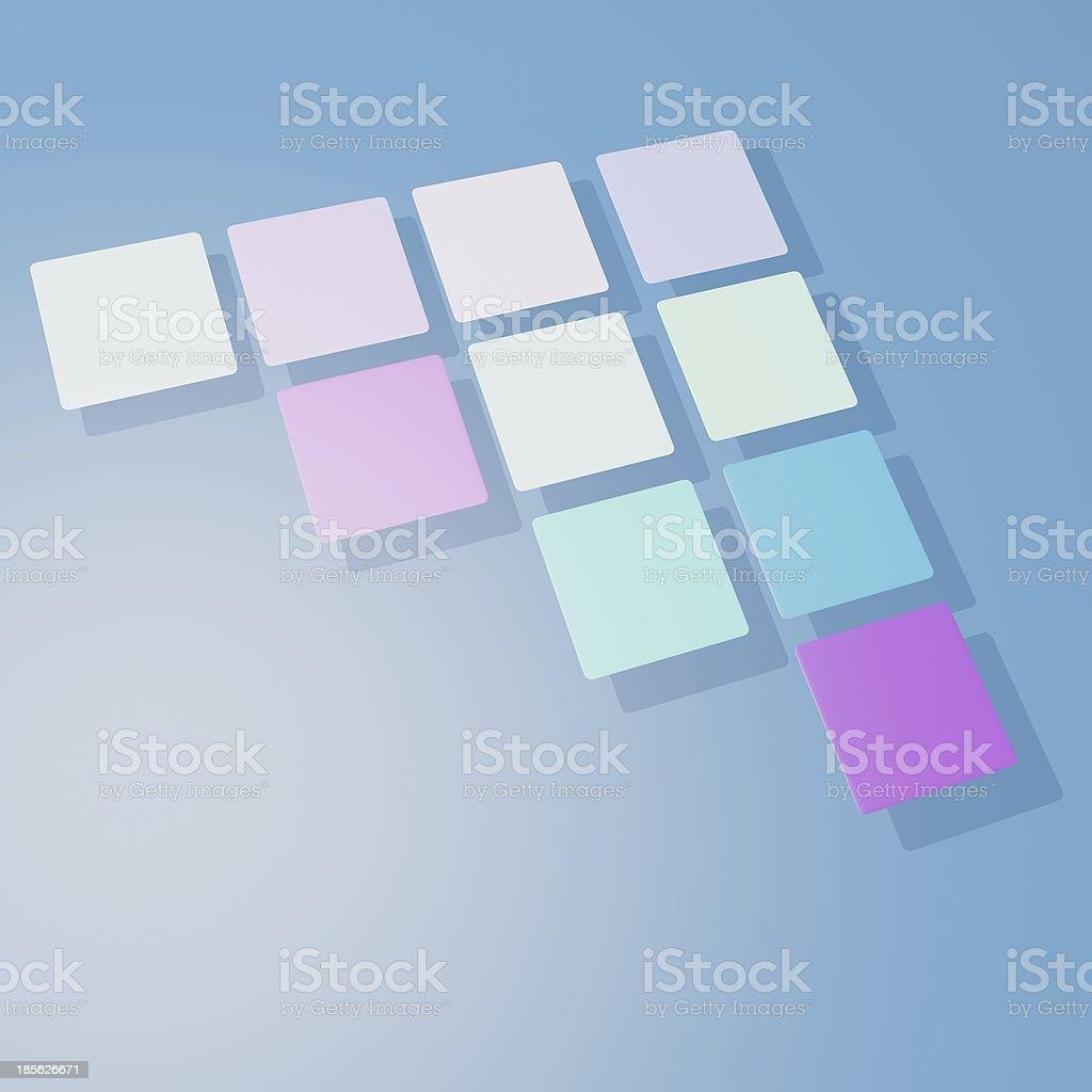 3D arrow model cube royalty-free stock photo