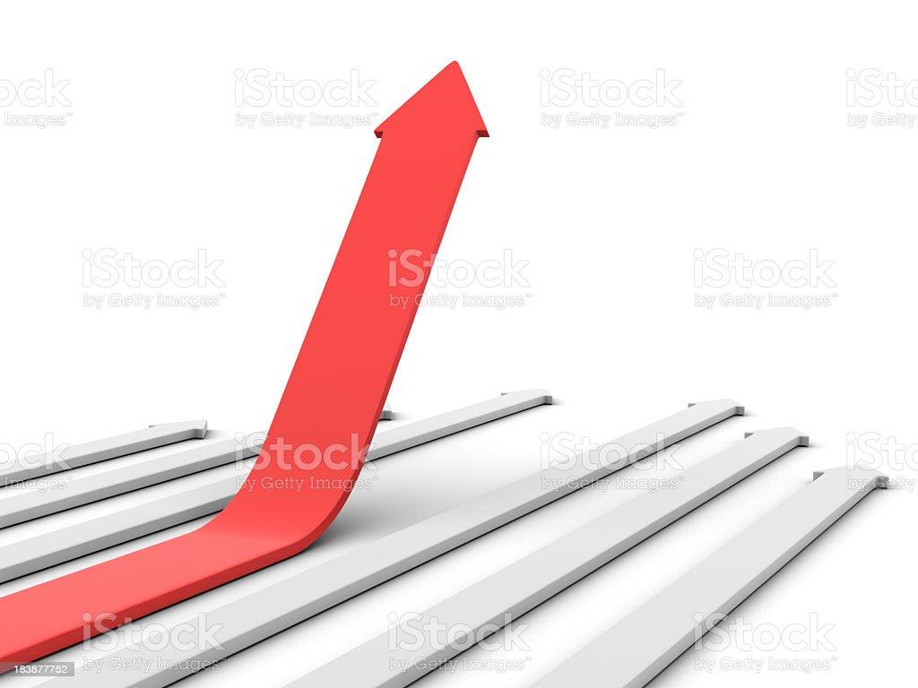 Arrow Moving Up royalty-free stock photo