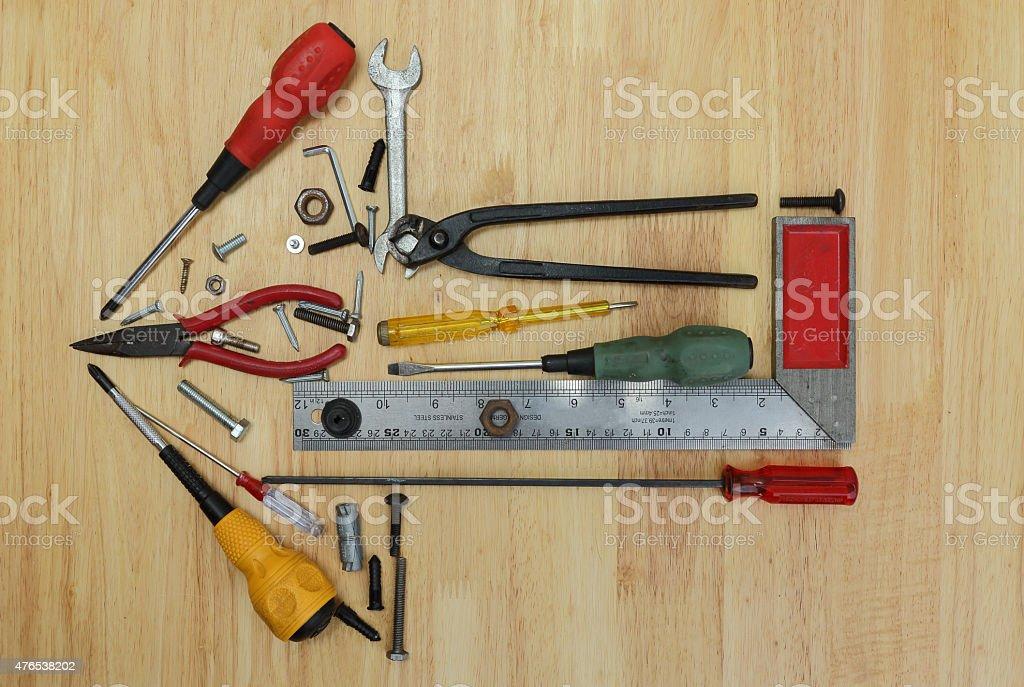 Arrow Of Tools stock photo