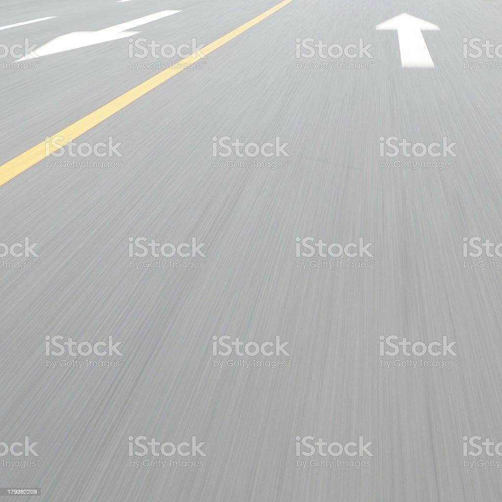 arrow on road royalty-free stock photo