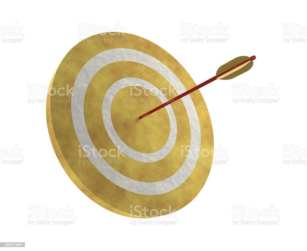 Arrow on Target stock photo