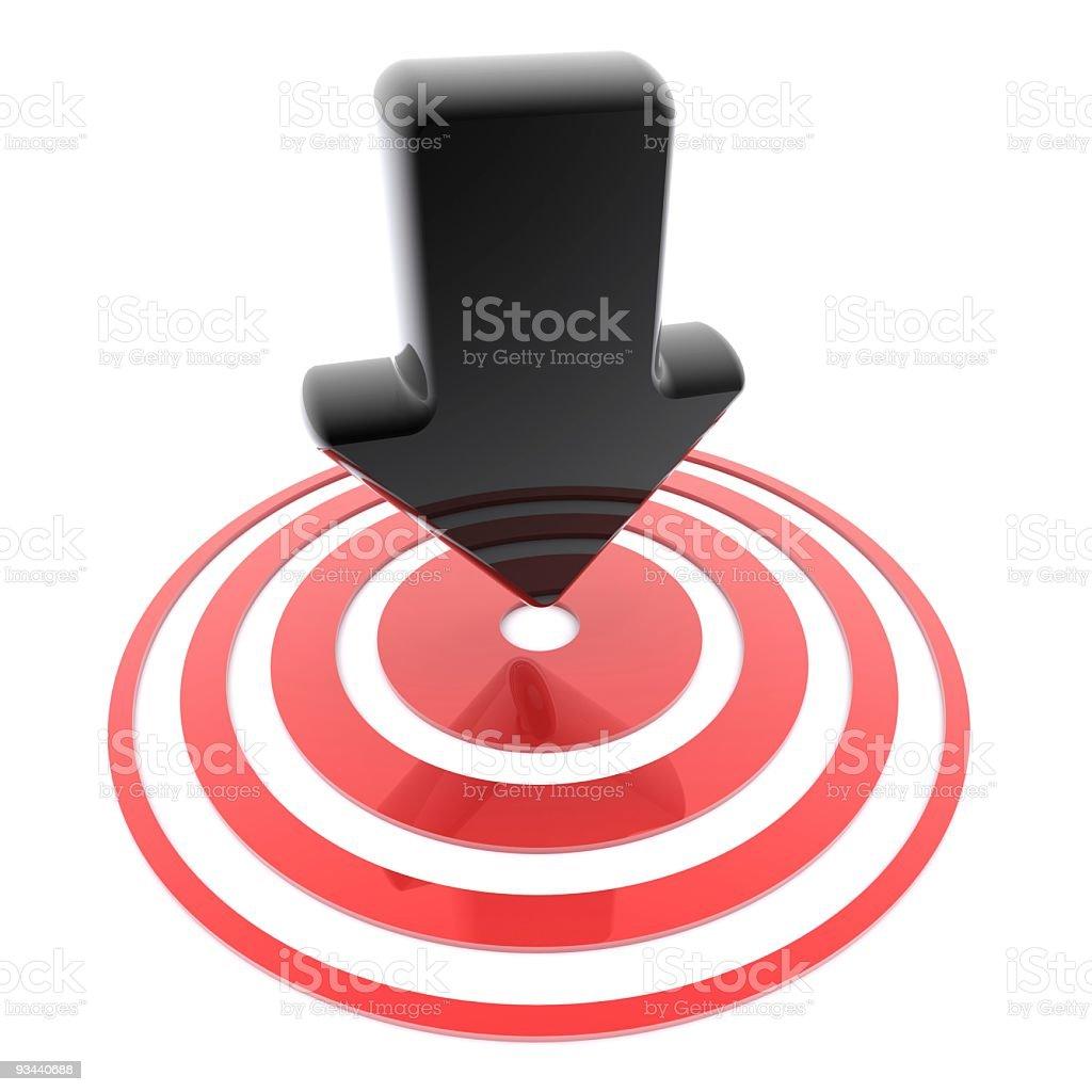 arrow on target royalty-free stock photo