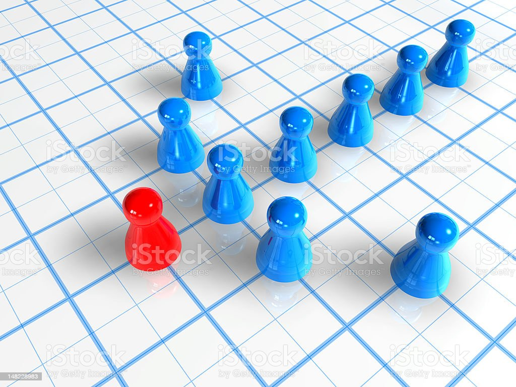Arrow Pawns royalty-free stock photo