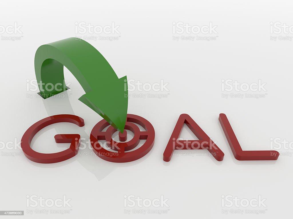 Arrow Pointer to Goal Symbol, Strategy Concept stock photo