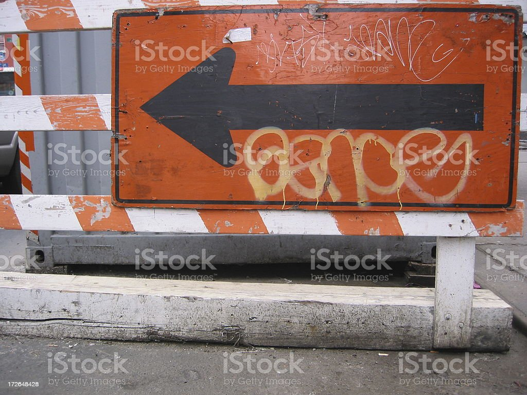 Arrow pointing left royalty-free stock photo