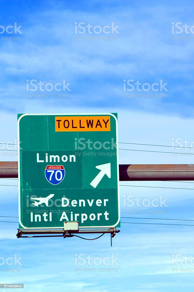 Arrow Points to Airport stock photo