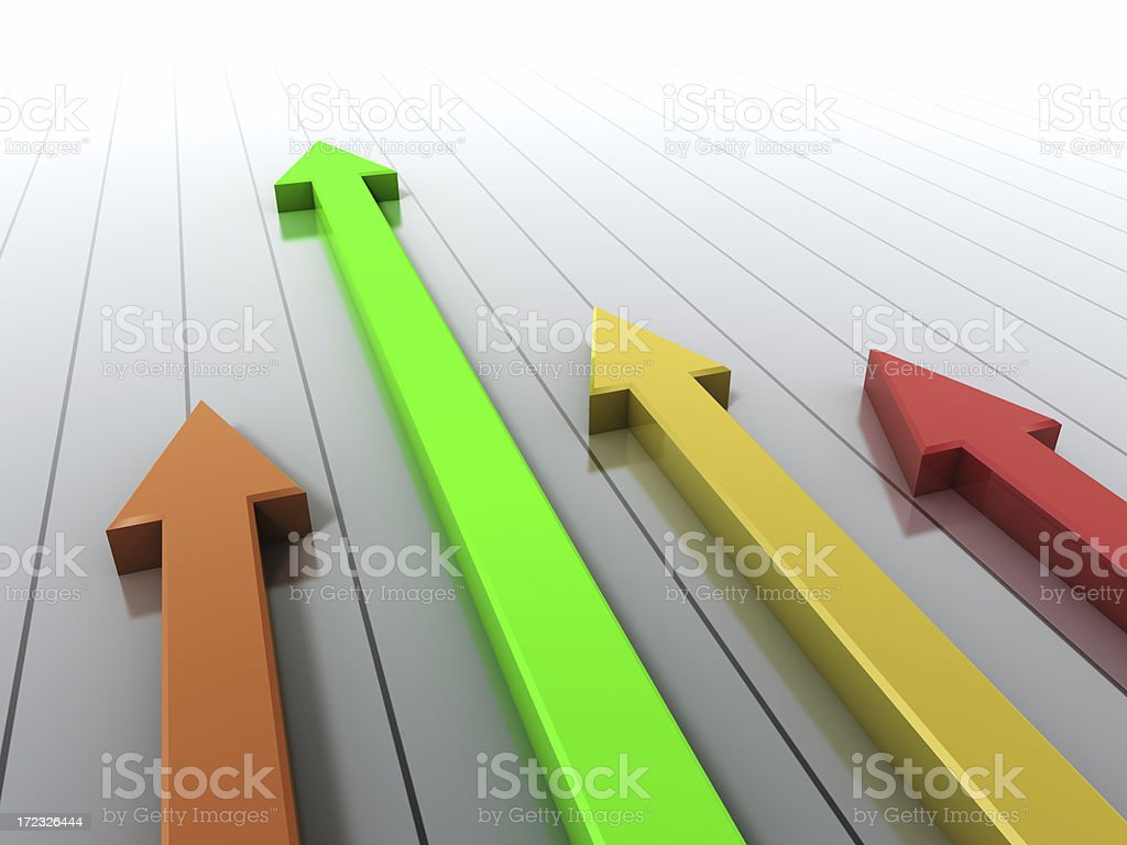 Arrow Race color royalty-free stock photo