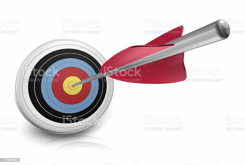 arrow right on target royalty-free stock photo