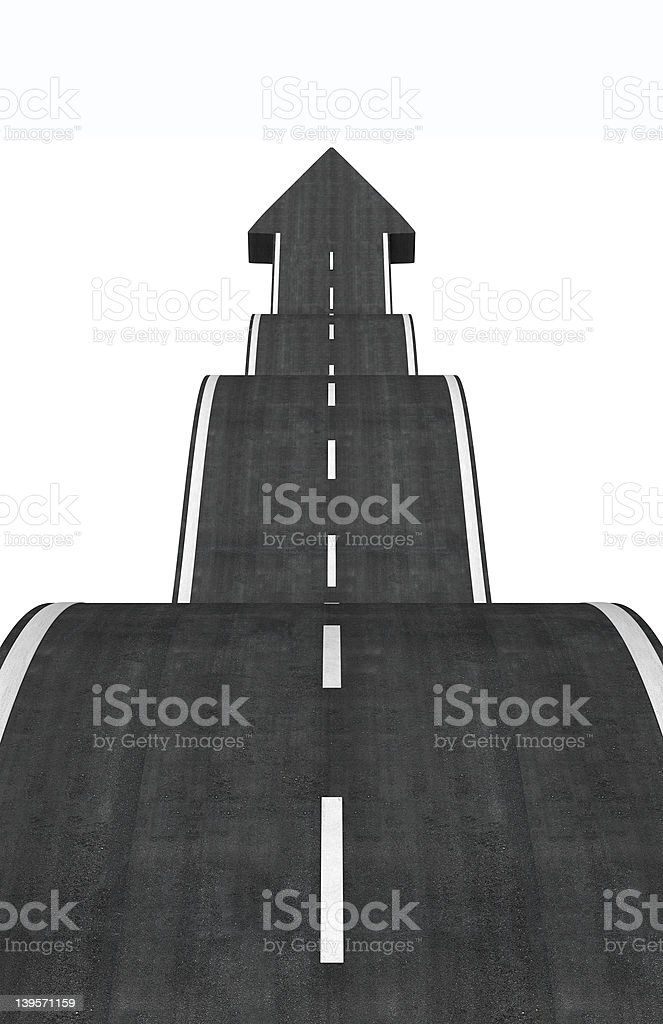 arrow road stock photo