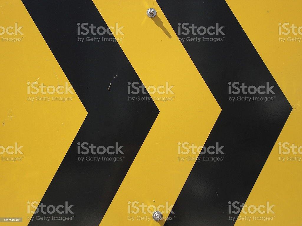arrow road sign royalty-free stock photo