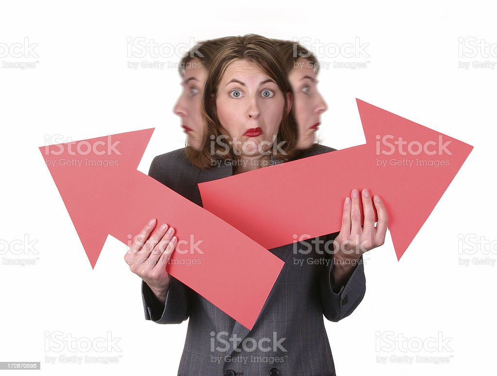 Arrow Series: Terribly Confused royalty-free stock photo
