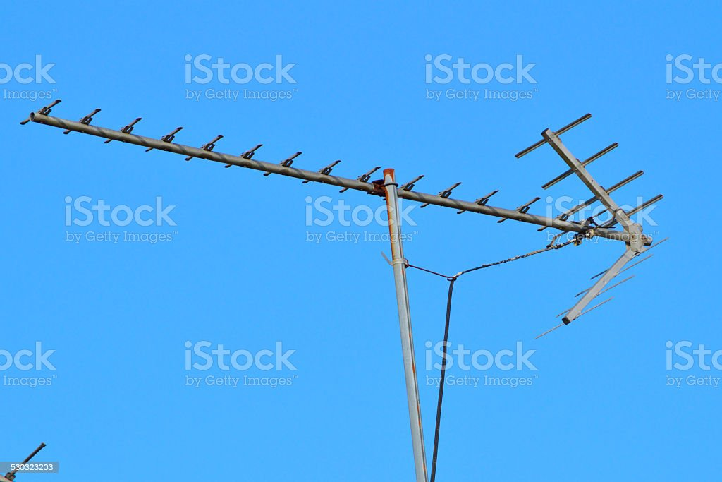 Arrow shaped antenna stock photo