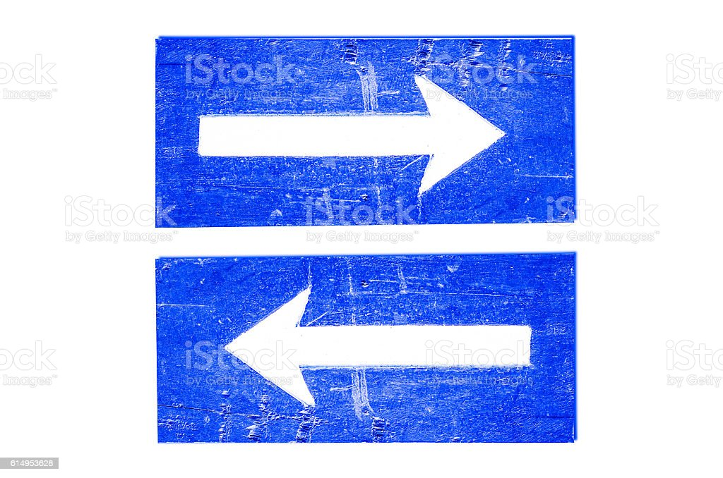 Arrow sign Left-Right stock photo