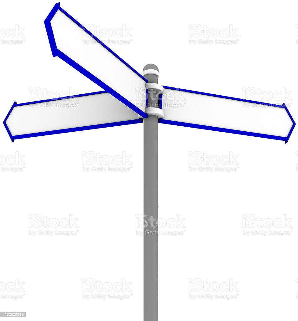 Arrow Sign - Make Decision royalty-free stock photo