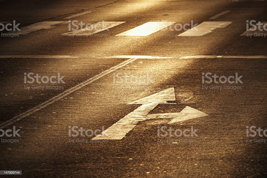 Arrow sign royalty-free stock photo