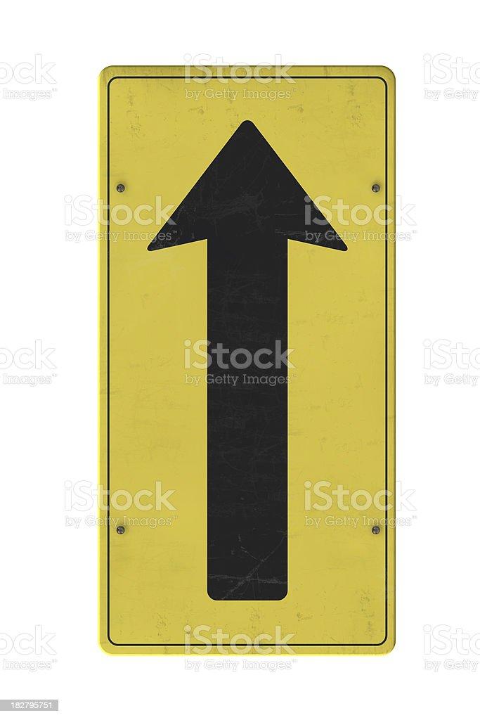 Arrow sign pointing upwards royalty-free stock photo
