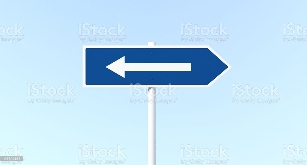 Arrow Sign Post with Mistake stock photo