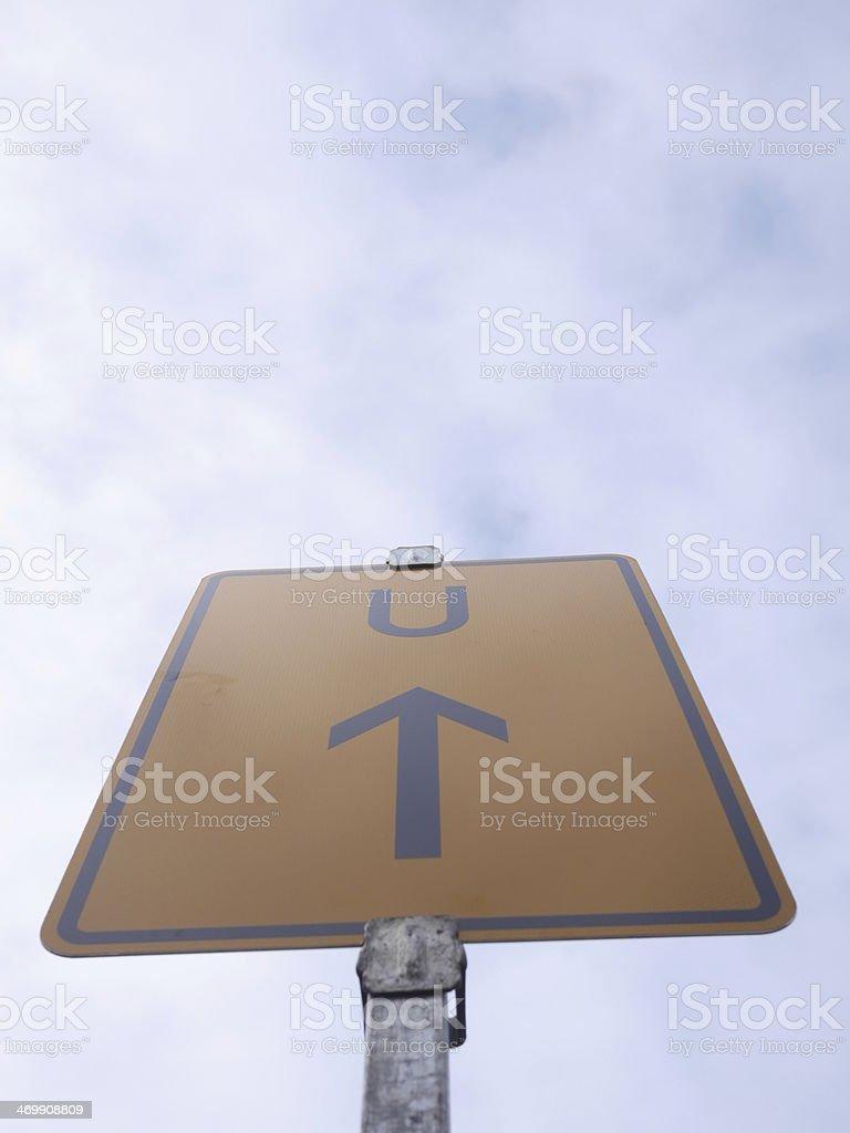 arrow sign sky stock photo
