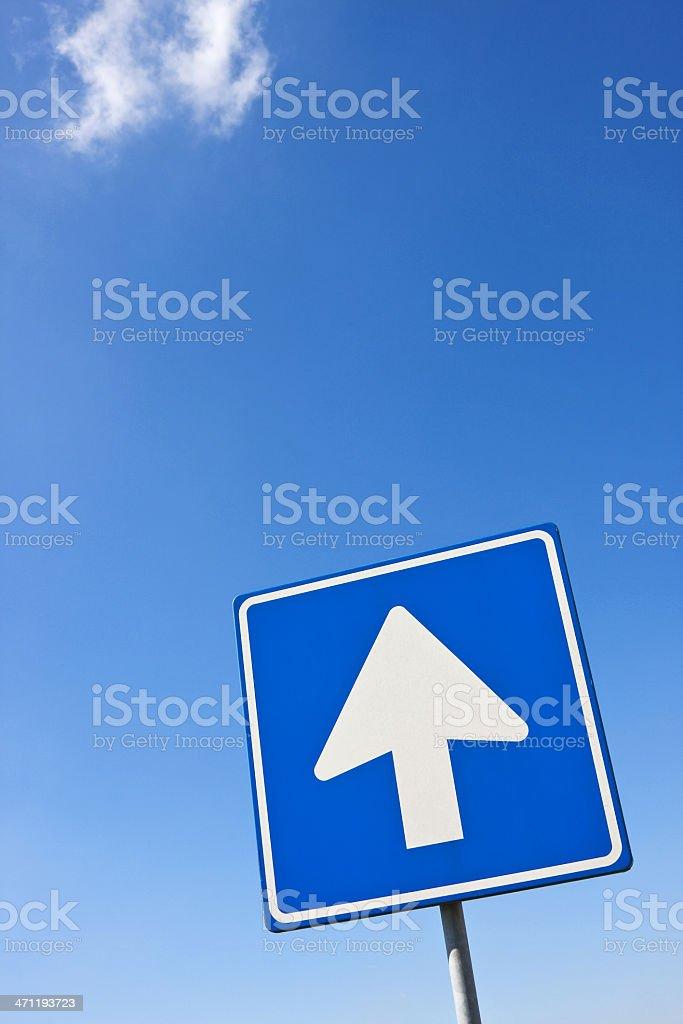 Arrow sign straight ahead XL royalty-free stock photo
