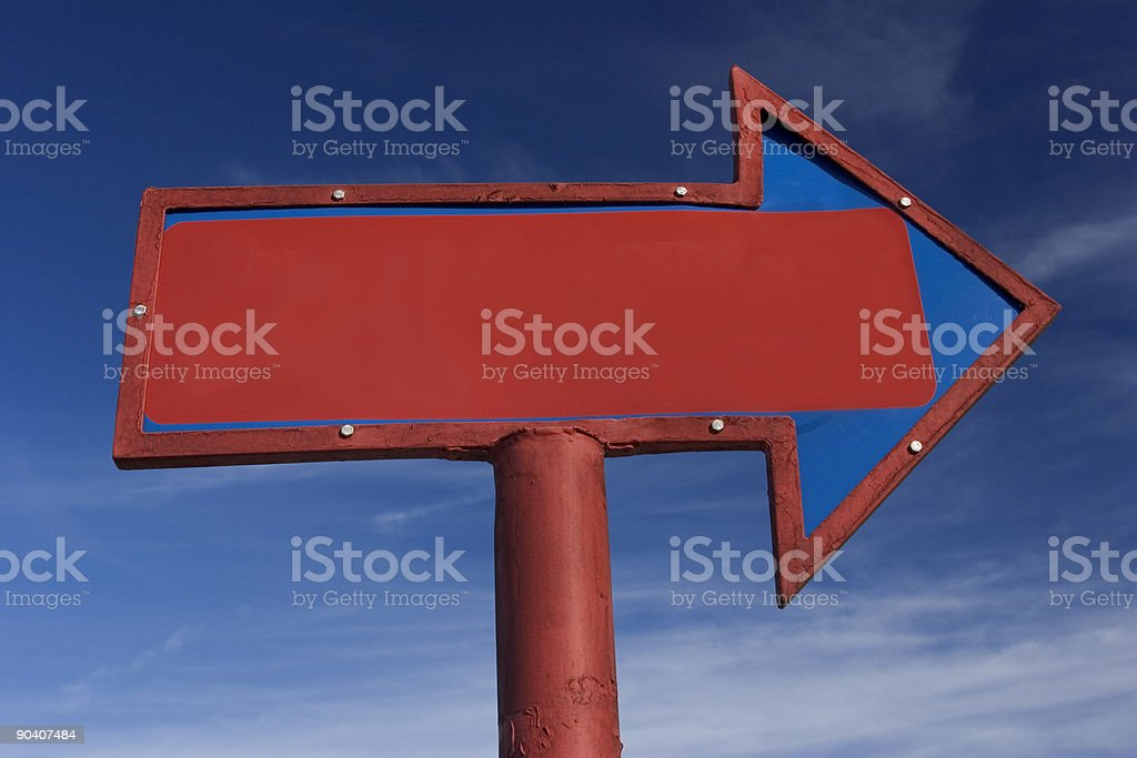 Arrow Sign with Blank area for Copy Space royalty-free stock photo