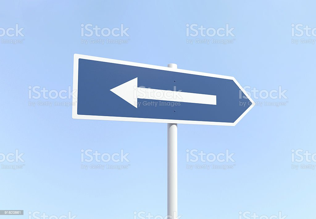 Arrow Sign with Mistake - Metaphor of Misunderstanding stock photo