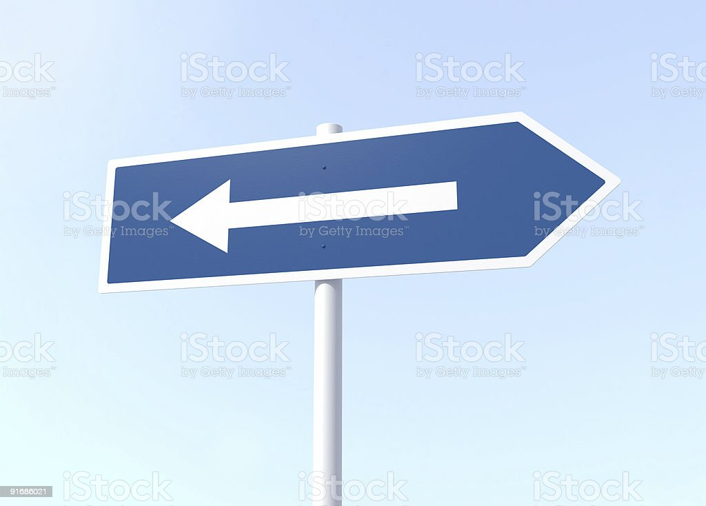 Arrow Sign with Mistake stock photo