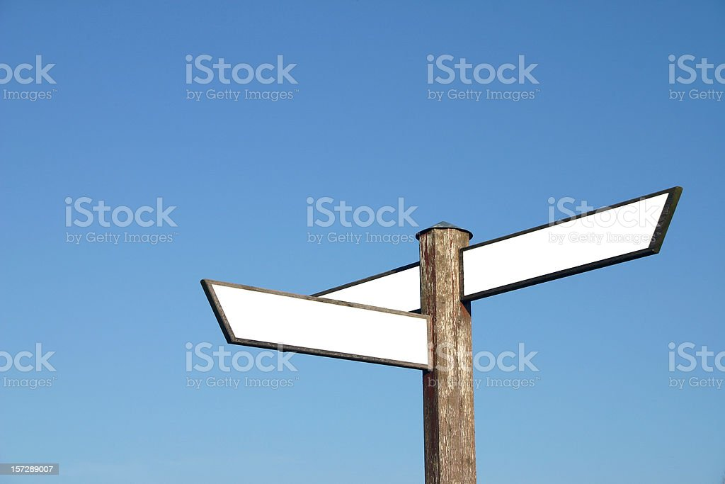 Arrow sign with space for text copy royalty-free stock photo