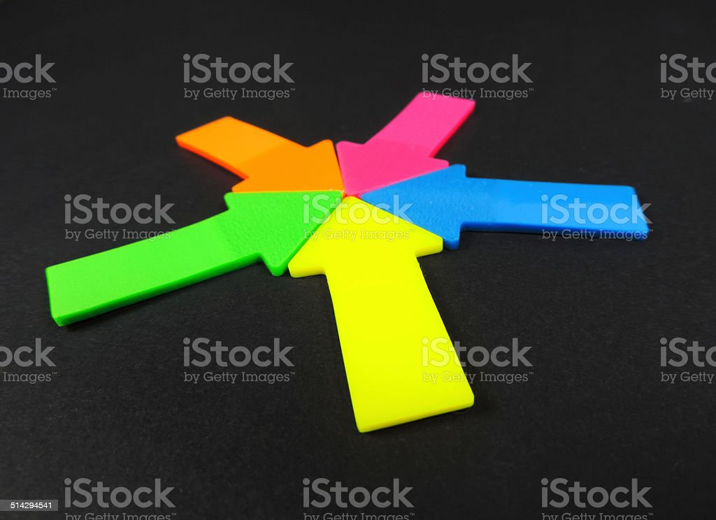 arrow signs stock photo