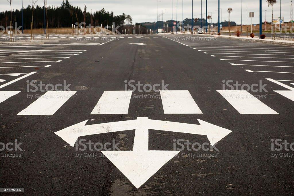 Arrow traffic sign royalty-free stock photo