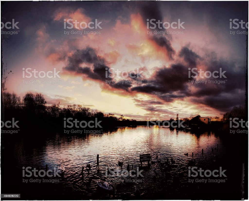 arrow valley lake redditch worcestershire stock photo