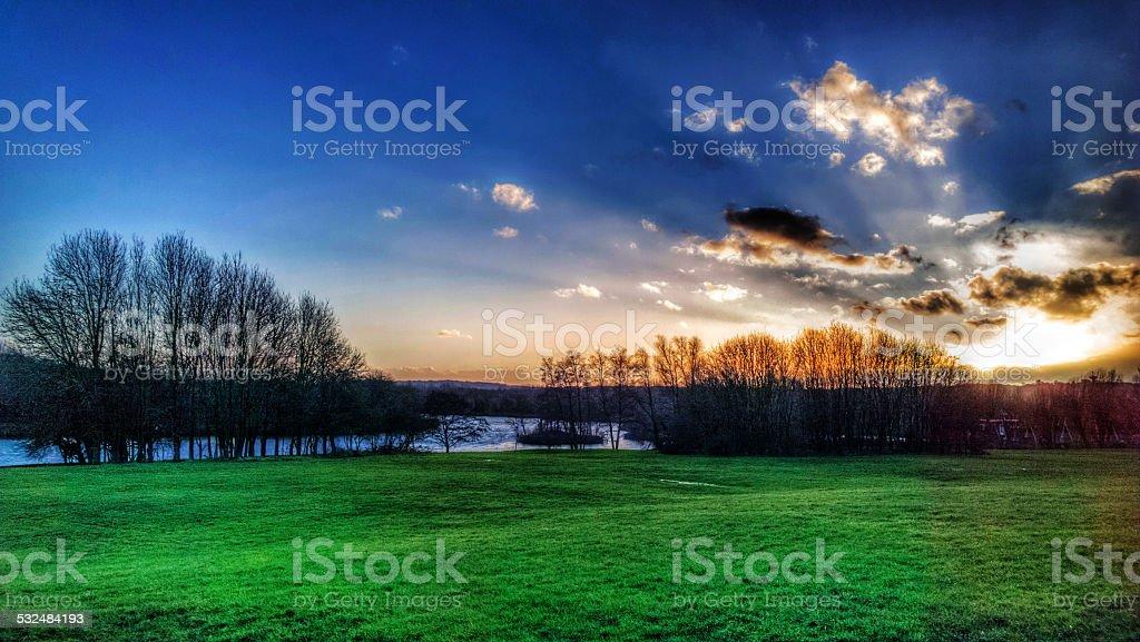arrow valley stock photo