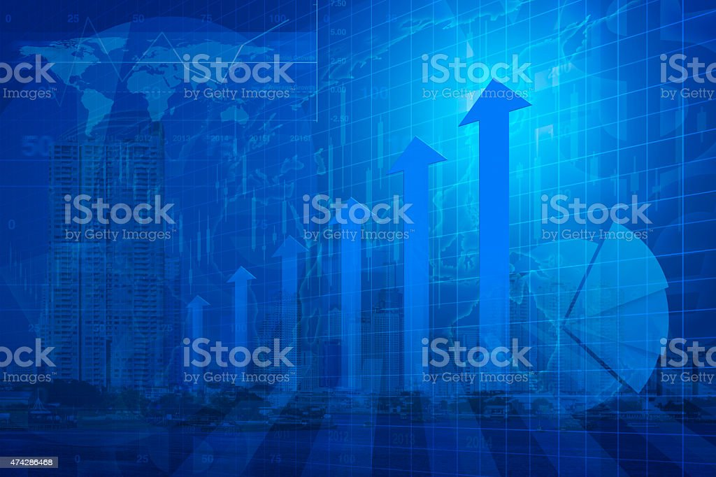Arrow with chart, Elements of this image furnished by NASA stock photo