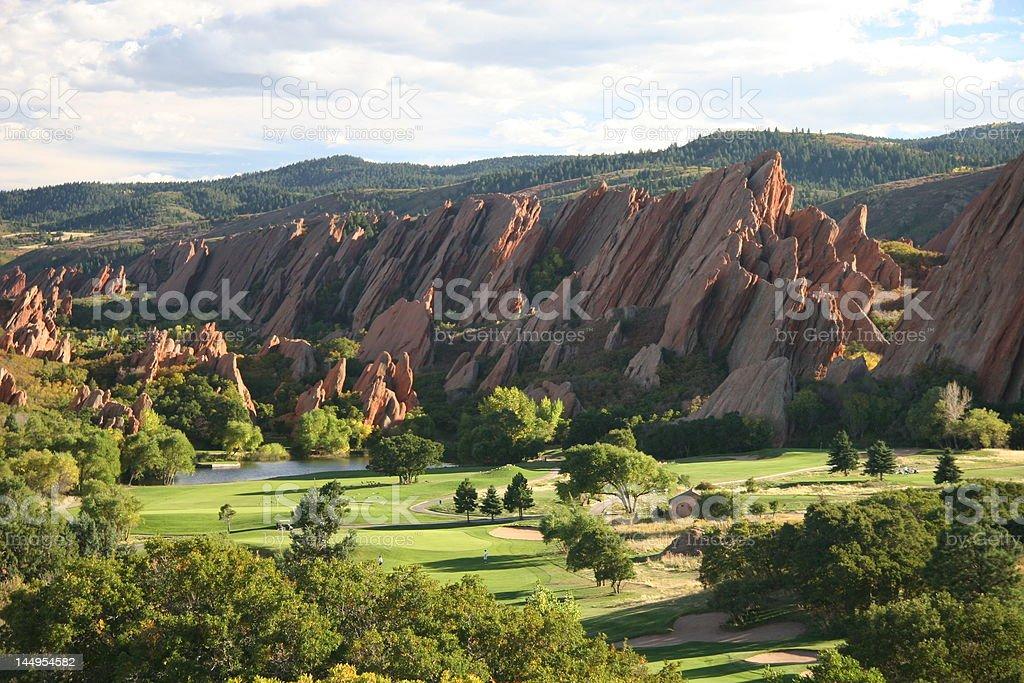 Campo de golf Arrowhead foto de stock libre de derechos