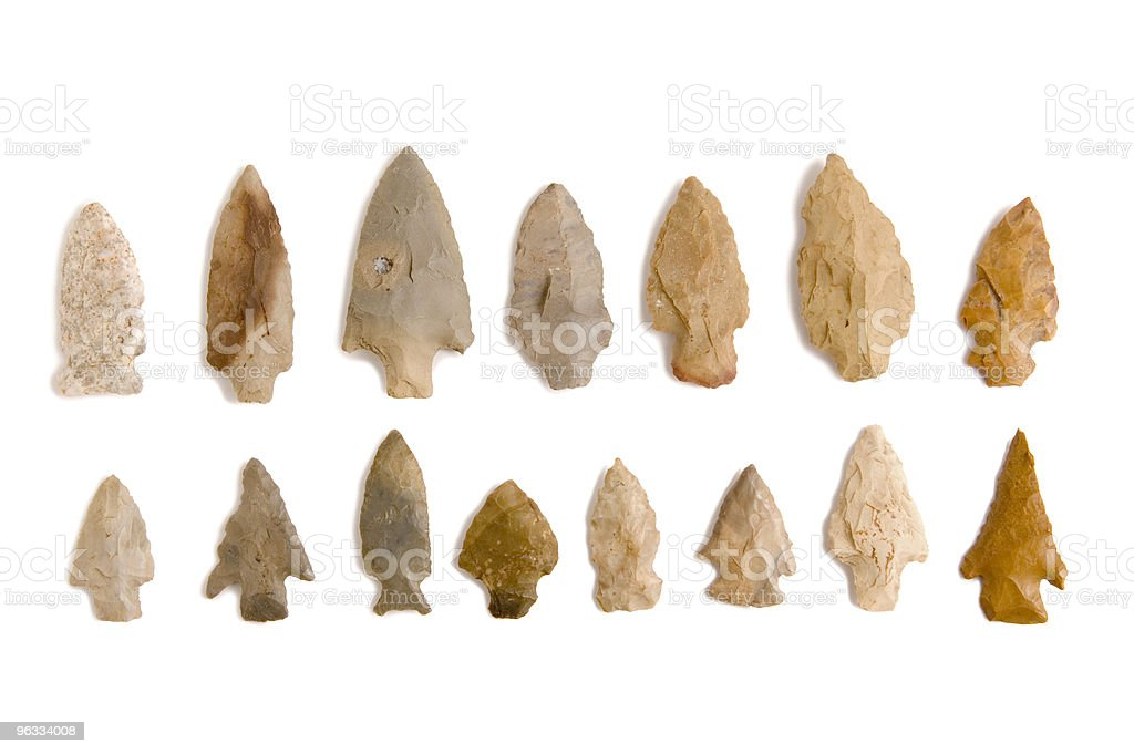 Arrowheads stock photo