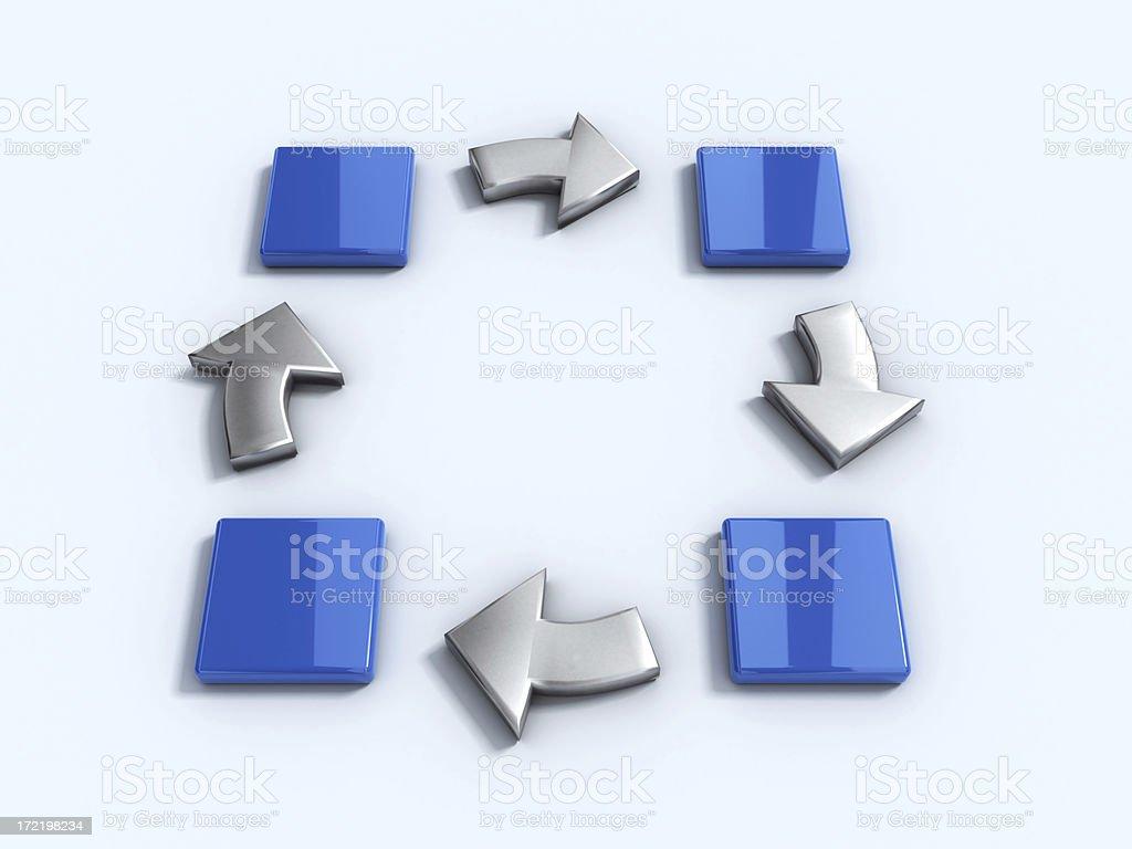 Arrows and blocks stock photo