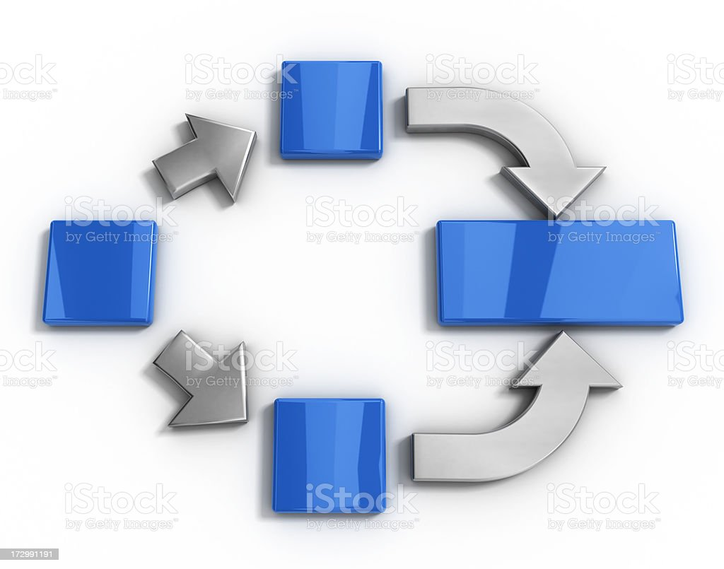 Arrows and blocks royalty-free stock photo