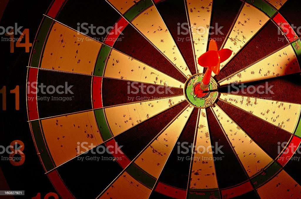 arrows and darts target royalty-free stock photo