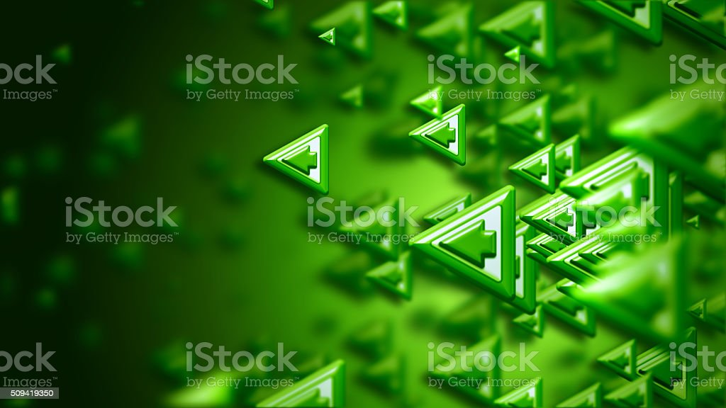 arrows as a concept and a sign of the right choice stock photo