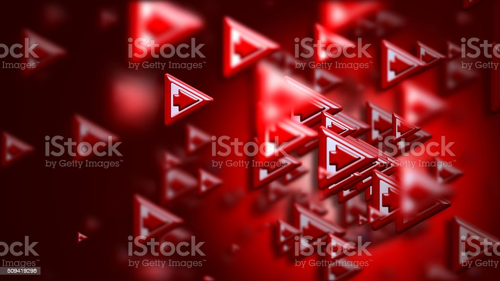 arrows as a concept and a sign of the wrong choice stock photo