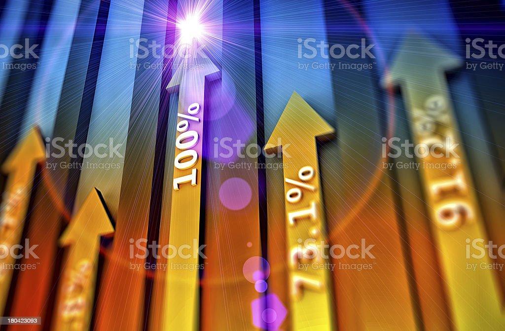 Arrows as concept royalty-free stock photo
