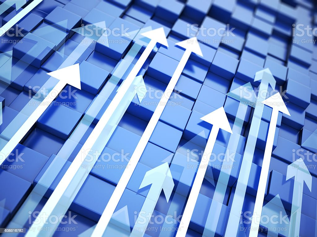 Arrows background stock photo