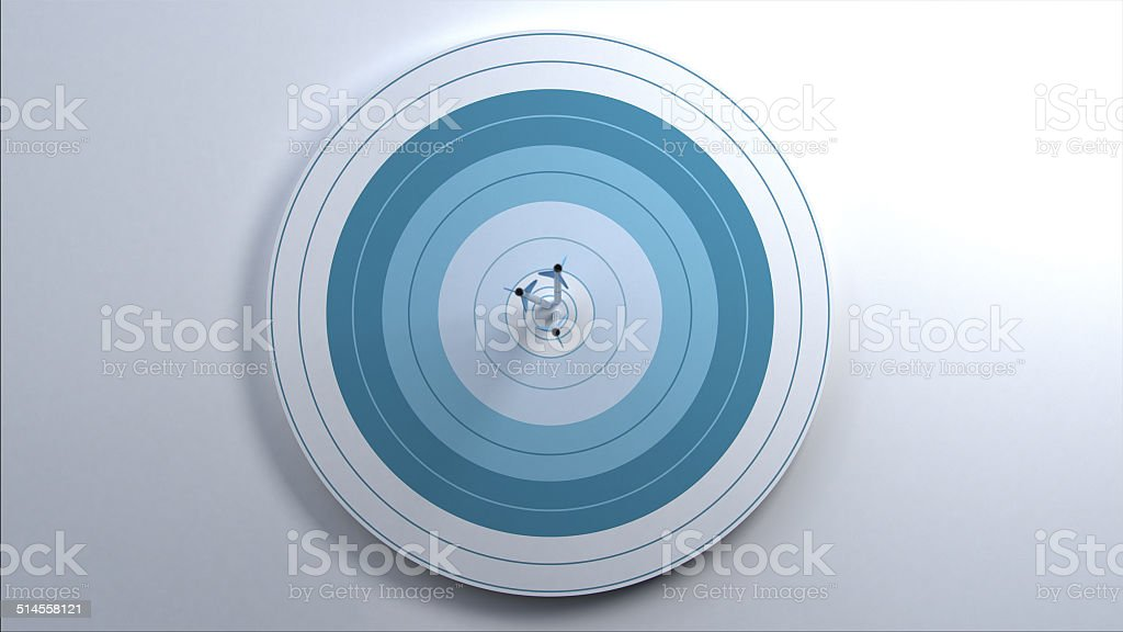 Arrows hit target. stock photo