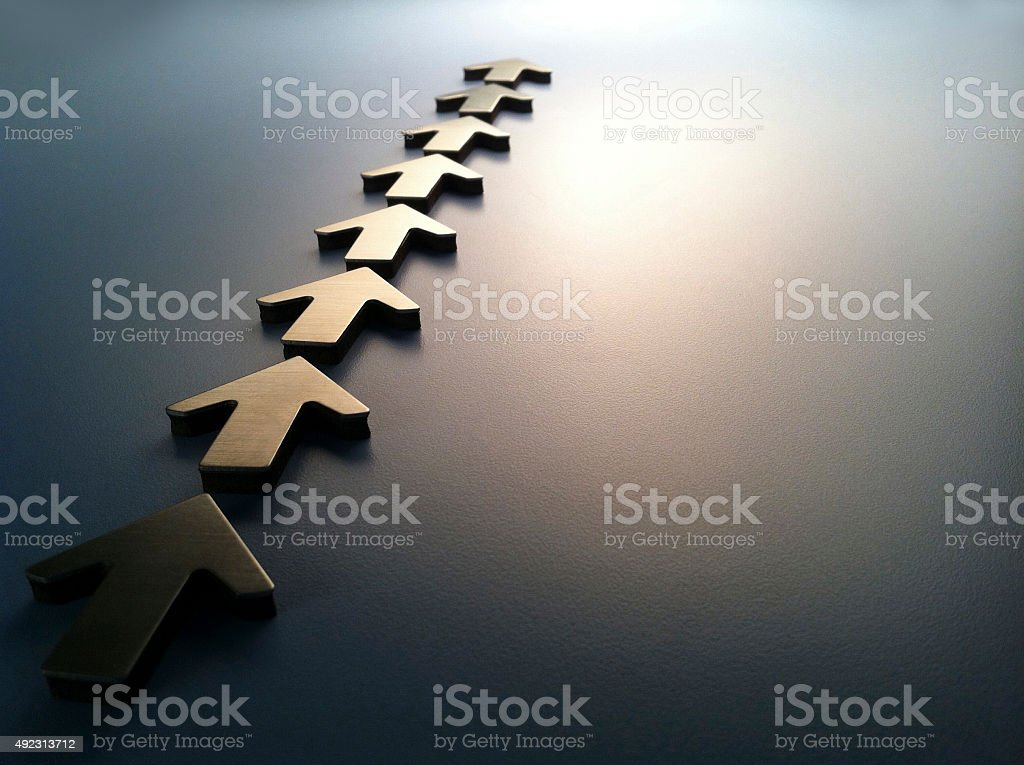 Arrows In A Straight Line stock photo